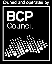 Black and white BCP council logo